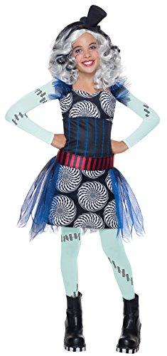 Rubie's Kostüm Frankie Stein Monster High Mädchen Klassiker (Kostüm Stein Monster Frankie Kind High)