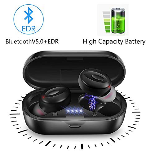 lifeicomall audífonos inalámbricos, Mini audífonos intraurales, a Prueba de Sudor, estéreo, Bluetooth,...