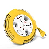 #8: GM 3240 - DREI 2 PIN FLEX EXTENSION CORD WITH 5 MTR CABLE with Master Switch,Indicator & International Sockets