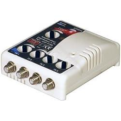 High-Tech 372014 Amplificateur TV TNT Intérieur Filtre 4G Blanc