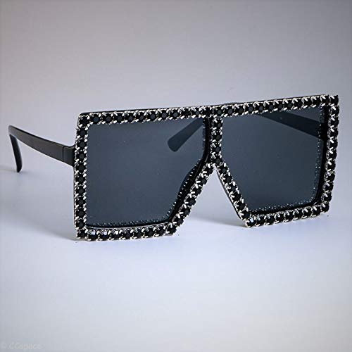 KUNHAN Damen Sonnenbrille Damen Übergroßen Kristall Sonnenbrillen Sommermode PolarisierteBrille Shades Brille Anwendbarreisen, Fahren, Party,Einkaufen