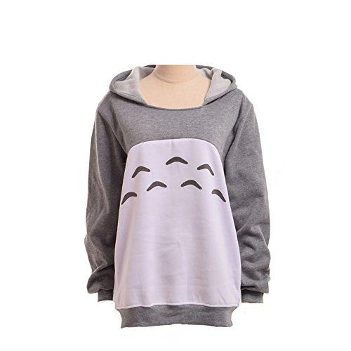Unisex Anime Kapuzenpullover Sweatshirt Hemd Meine Nachbar Totoro Lange Ärmel Vlies Mit Kapuze Sweatshirt (XL) (Anime Kapuzen Sweatshirt)