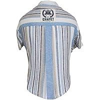 Dooret Ropa para Perros Universal Camisa del Animal doméstico de la Moda a Rayas de Manga Corta de algodón cómodo Fina Camisa de Lino para Primavera y Verano