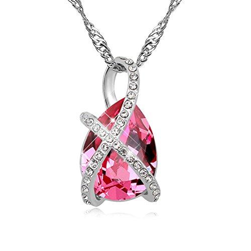 FANSING Joyería Regalo Original Austriaco Cristal Collares Pendientes Para Mujerses Rosa