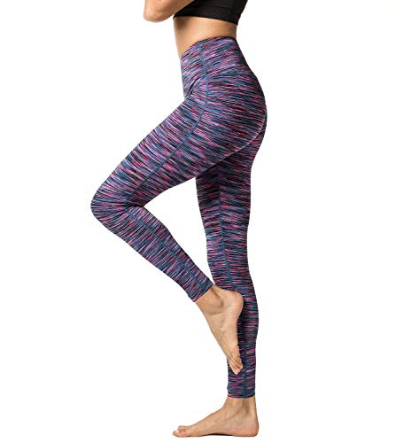d36fd6294e Lapasa Women's Sport Leggings - HIGH WAIST - Yoga Pants - Running Tights -  Gym & Workout - With Hidden Pocket- L01 - Purple Space Dye - M/UK 10 /  Waist: See ...