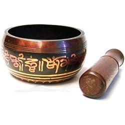 dharmaobjects tibetano Meditación Om Mani tazón tibetano (con maza/cojín