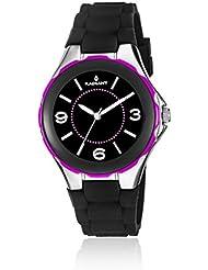 Radiant RA163607 - Reloj con correa de piel para mujer, color negro / gris