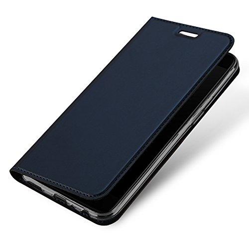 Funda de piel para One Plus 5, TUOYA One Plus 5 Flip Shell Cuero Wallet Soporte Plegable, Flip Carcasa Cierre Magnético con Ranuras para Tarjetas para One Plus 5 Smartphone Case (Azul)