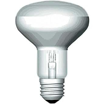 ampoule halogène osram spot eco e27 - 77w - 2800k - 230v - 20d - r80