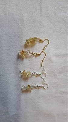 Boucles d'oreilles argent en labradorites jaunes transparentes