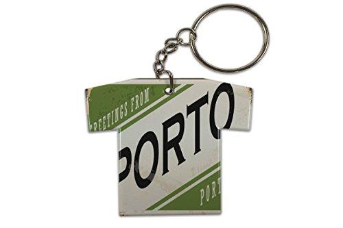LEotiE SINCE 2004 Schlüsselanhänger Retro Metropole Porto Portugal Trikot bedruckt