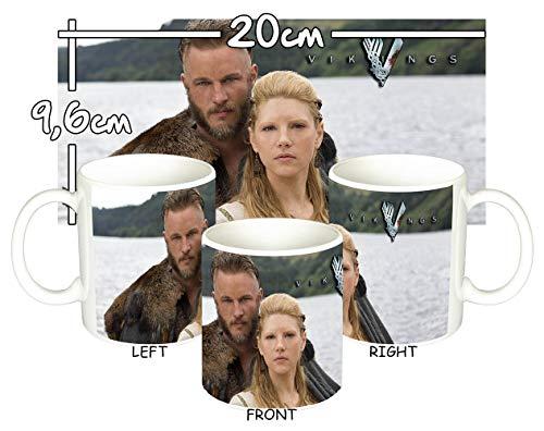 MasTazas Vikingos Vikings Travis Fimmel Katheryn Winnick Taza Mug