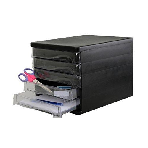 Schubladen-Box als Schreibtisch Organizer - 5 Ablagefächer für die Brief-Ablage oder Dokumenten-Ablage - Cleveres Ordnungssystem für das Büro – Schubladenkasten als Sortierstation für Papier und Post