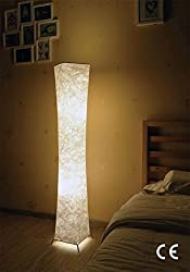 Standard Lamp, Deessin Modern Design Fabric Soft Lighting Floor Lamps for Living Room and Bedroom - 20×20×132cm