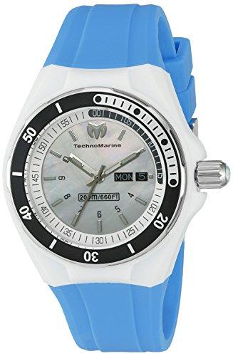 TechnoMarine TechnoMarine Femme Bracelet Silicone Bleu Boitier Acier Inoxydable Quartz Montre 115122
