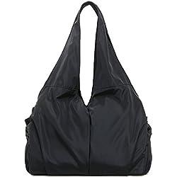 Greeniris Damen Leicht Handtasche Damen Wasserdicht Schultertasche Schwarz