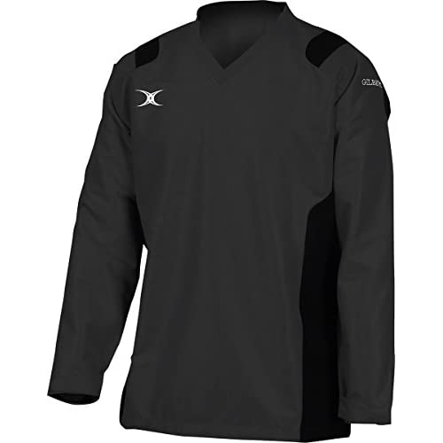 "41qYqAl3r6L. SS500  - Gilbert Rugby Adult Revolution Warm-up Top Black Xs (35/36.5"")"