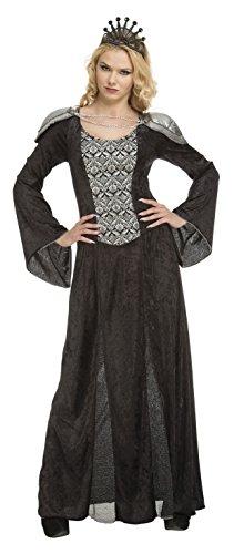 My Other Me Kostüm Königin Damen, Schwarz, M-L (viving Costumes 204186)