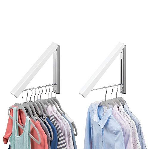 MDesign Juego 2 colgadores ropa abatibles