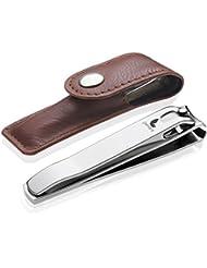 Nagelknipser Pamara Premium - Extra scharfer Nagelzwicker inkl. Etui - scharfer und glatter Schnitt - Maniküre und Pediküre für Damen und Herren