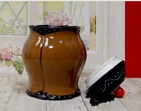 Toskana handbemalt Fleur de Lis Kaffee Design, Cookie Jar, 85176von ACK Fleur De Lis-cookie