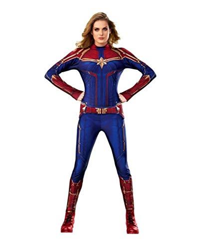 Horror-Shop Captain Marvel Jumpsuit Kostüm Damen als Verkleidung für Halloween und Karneval S Horror-jumpsuit