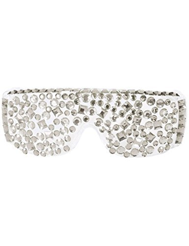 Folat Party Brille Diamant Silber ()