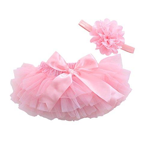 BESTOYARD Tutu Rock Baby Mädchen Fotografie Requisiten Neugeborenen Kleinkinder Geburtstag Prinzessin Kleid mit Kopfschmuck Größe S (Pink) - Baby Tutu Rock