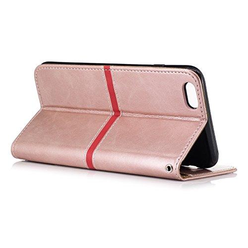 Voguecase Pour Apple iPhone 6 Plus/6s Plus 5,5 Coque, Étui en cuir synthétique chic avec fonction support pratique pour Apple iPhone 6 Plus/6s Plus 5,5 (Série élégante-Jaune)de Gratuit stylet l'écran  Série élégante-Pink
