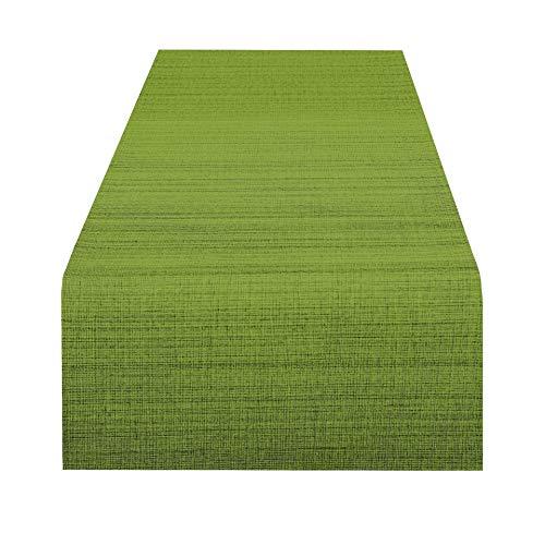 Delindo Lifestyle Tischläufer Samba, grün, 40x140 cm, Fleckschutz, abwaschbar, für Indoor und Outdoor