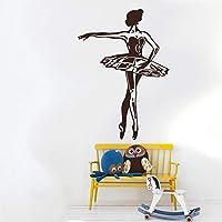 Handaxian Elegant Ballerina Wall Stickers For Kids Room Girls Home Decor Ballet Dancer Removable Nursery Art Mural Gymnastic Decal S57*41cm