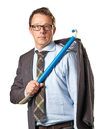 TronicXL 3in1 Premium Anziehhilfe Anzieh Stock Anzieher Hilfsmittel für Senioren handicaped People - Tool für Jacken Hemden Sacko Schuhe Schuhlöffel Rückenkratzer Anzieher Jacke Hemd Pullover