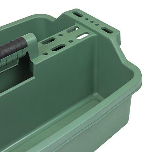 Werkzeugkoffer Werkzeugträger Werkzeughalter 520x320x195 mm grün 2 Fächer - 3