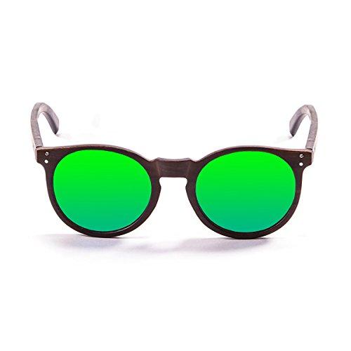 7401d84fe0 Ocean Sunglasses Gafas De Sol Lizard Bamboo Dark Frame/Wood Dark Arms/Revo  Green