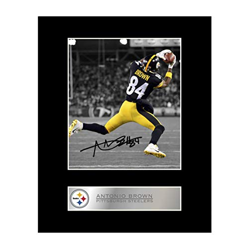 Antonio braun Signiert Foto Display Pittsburgh Steelers