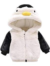 Huhu833 Baby Kapuzen Mantel, Kleinkind Infant Baby Mädchen Herbst Winter Kapuzenmantel Mantel Jacke Dicke Warme Kleidung