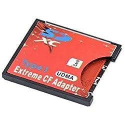 QUMOX SD SDHC SDXC pour CF Compact Flash Lecteur de Carte mémoire de Type 1 Adaptateur