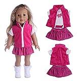 Gaddrt Puppenkleider Kleidung Zubehör für Reizende Mäntel dreiteilige Klage 18 Zoll unsere Generation für amerikanisches Puppen-Mädchen