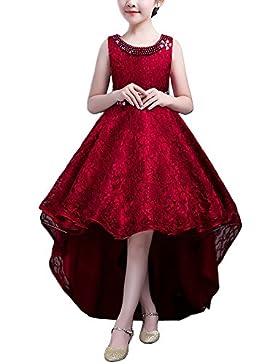 Mädchen Kinder Kleid Lang Brautjungfer Festlich Hochzeit Kleider Abendkleid