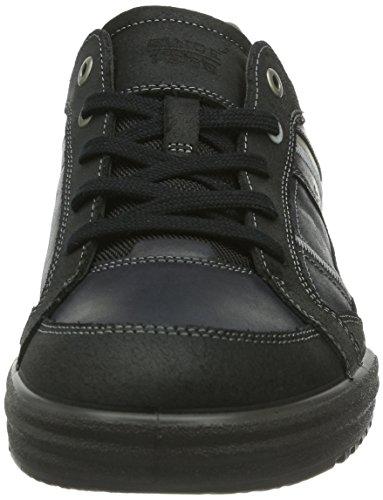 Ecco Fraser, Baskets mode homme Noir (Black/Black/Warm Grey)