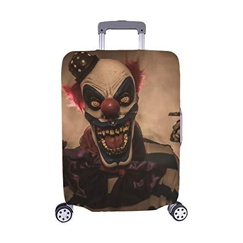 Unheimlich Kostüm Clown Böse - (Nur abdecken) Böser unheimlicher Clown Monster Pattern Spandex-Staubschutz Trolley Protector case-Koffer Reisegepäck-Schutzkoffer-Abdeckung 28,5 X 20,5 Zoll