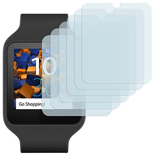 mumbi Schutzfolie kompatibel mit Sony SmartWatch 3 Folie klar, Bildschirmschutzfolie (6x)