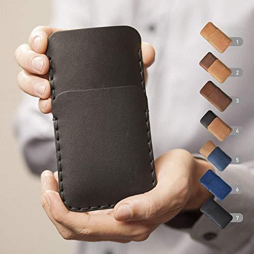 Leder Hülle für HTC Tasche Cover Case personalisiertes Etui durch Prägung mit Ihrem Namen. Für U12+ U11+ U11 EYEs Life X10 U Play Ultra Desire 12 12+ 555 650 10 Evo Bolt pro Lifestyle One a9s Prime 628 830 825 630 530 626
