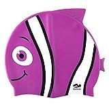 Kinder Schwimmen Hut, Lustiges Design [Silikon] Jungen Badekappe Animal Fisch-förmig [Mädchen Schwimmen Hut] für Kinder - Lila