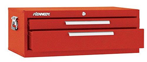 Kennedy Verarbeitung 5150b Schlosserhammer Schränkchen mit 2Schubladen Boden mit Reibung Folien, 66cm schwarz (Kennedy Werkzeug-boxen)