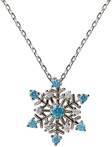Collana s925 argento sterling snowflake female clavicle chain wild sweet new year non sbiadisce 38 + 4cm love her best gift