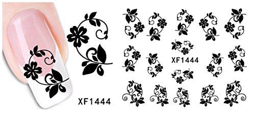 Stickers Pour Ongles avec des Fleurs-XF1444