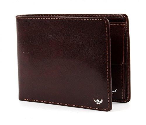 Billfold Coin Wallet (Golden Head Colorado RFID Protect Billfold Coin Wallet Quer Tobacco)
