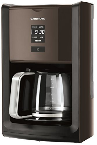 Grundig KM 7280 G Programmierbare Kaffeemaschine 1000 W, 12 Tassen(1,8 l) Fassungsvermögen mit Display und Brühstärkeneinstellung , grey sense