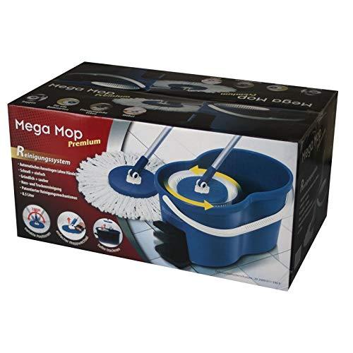 Wischmop 360° Mega Spin Mop Bodenwischer mit Schleuder-Einsatz